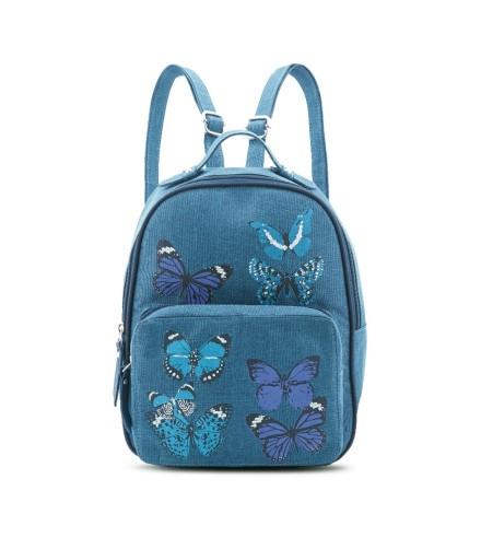 tas ransel wanita warna biru